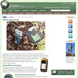 GPS for geocachers | GPS Tracklog