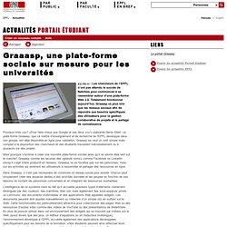 Graaasp, une plate-forme sociale sur mesure pour les universités