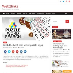 Grab the best paid word puzzle apps - Web2links