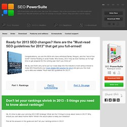 Grab your FREE guide to 2013 SEO.