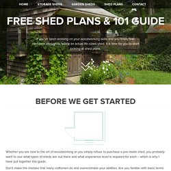 Grab These 3 Completely Free Shed Plans Now