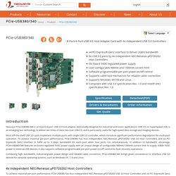 PCIe-USB380 USB 3.0 frame grabber/host controller card
