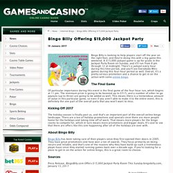 $15,000 Up For Grabs at Bingo Billy in Jackpot Party
