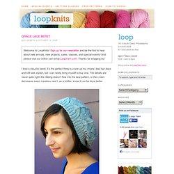 Grace Lace Beret Free Knitting Pattern
