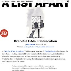 Graceful E-Mail Obfuscation
