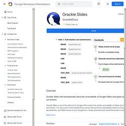 Grackle Slides - Google Workspace Marketplace