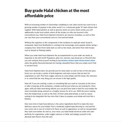 Buy grade Halal chicken at the most affordable price