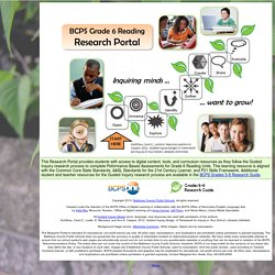 BCPS Grade 6 Reading Research Portal