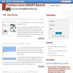 Teachers Love SMART Boards: Grade: High School