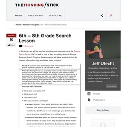 6th – 8th Grade Search Lesson