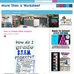 How to Grade STEM Projects - More Than a Worksheet