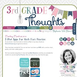 5 iPad Apps for Math Fact Practice