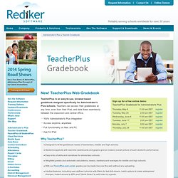 GradeQuick Web - Web-based teacher gradebook software | Rediker Software
