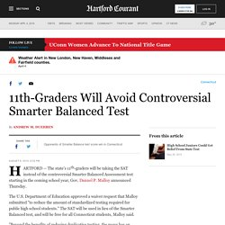 11th-Graders Will Avoid Controversial Smarter Balanced Test