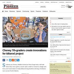 Cheney 7th-graders create innovations for Iditarod project