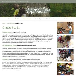 Grades 9 to 12 - The Project Approach