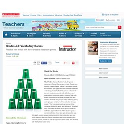 Grades 4-5: Vocabulary Games