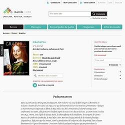 Revue Gradhiva 2009/1, Arts de l'enfance, enfances de l'art