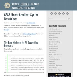 CSS3 Linear Gradient Syntax Breakdown