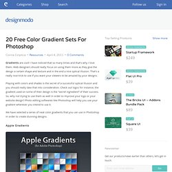 20 Free Color Gradient Sets For Photoshop