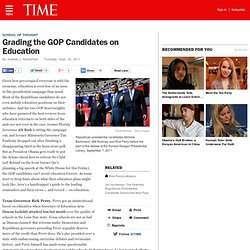 Grading the GOP Candidates on Education