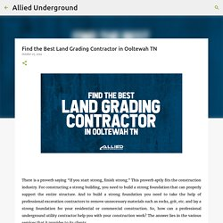Find the Best Land Grading Contractor in Ooltewah TN
