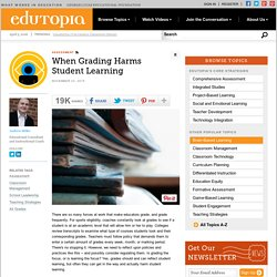 When Grading Harms Student Learning