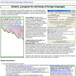 Gradint, a program for self-study of foreign languages