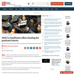 MMU's GradMatch offers funding for graduate interns