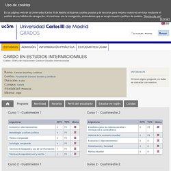 Grado en Estudios Internacionales