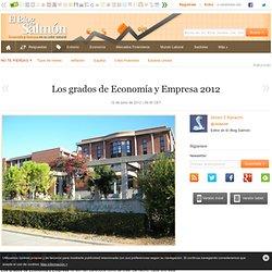 Los grados de Economía y Empresa 2012