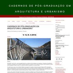Cadernos de Pós-Graduação em Arquitetura e Urbanismo