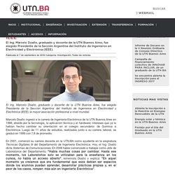 Graduado de la UTN Buenos Aires preside la IEEE - UTN.BA