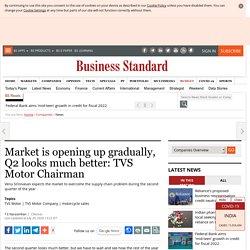 Market is opening up gradually, Q2 looks much better: TVS Motor Chairman