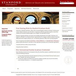 Stanford University Application
