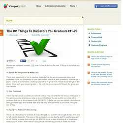 The 101 Things To Do Before You Graduate #11-20 | CampusSplash - College News and Tips.