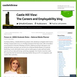 Focus on: ASDA Graduate Roles – National Media Planner