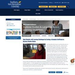 Graduate Certificate in Dyslexia Studies Online