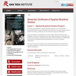Graduate Certificate of Applied Buddhist Studies