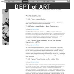 Graduate Courses in the Department of Art