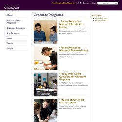 Graduate Programs - School of Art - San Francisco State University