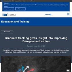 Graduate tracking gives insight into improving European education
