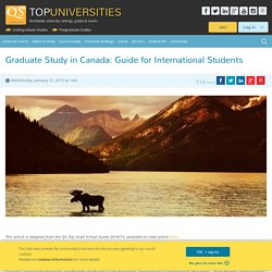 Graduate Study in Canada: Guide for International Students