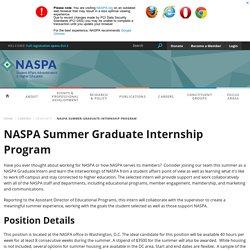 NASPA Summer Graduate Internship Program