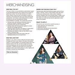 Graduate Retail Merchandising Job Career Profile With InRetail