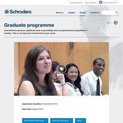 Schroders Graduate Programmes