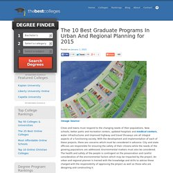 The 10 Best Graduate Programs In Urban And Regional Planning for 2015