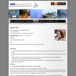 UME Graduate School » Yaprak Servi