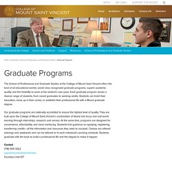 Graduate Programs - College of Mount Saint VincentCollege of Mount Saint Vincent
