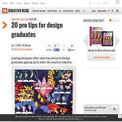 20 pro tips for design graduates